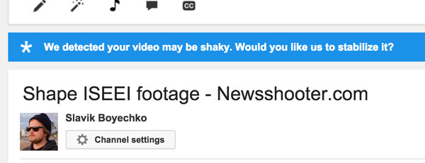 Even Youtube recognizes my ISEEI footage is shaky