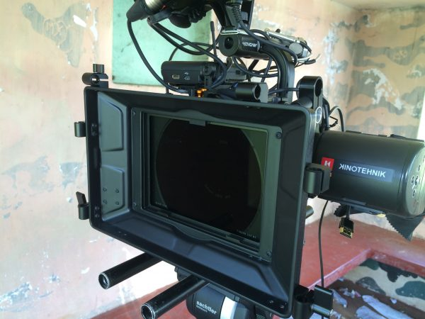 The Revar Cine Variable ND system inside my Bright Tangerine Misfit matte box
