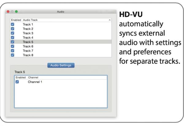 Easily sync external audio files