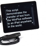 AutoScript WinPlus remote iPad prompting system allows 'live' script updates on location