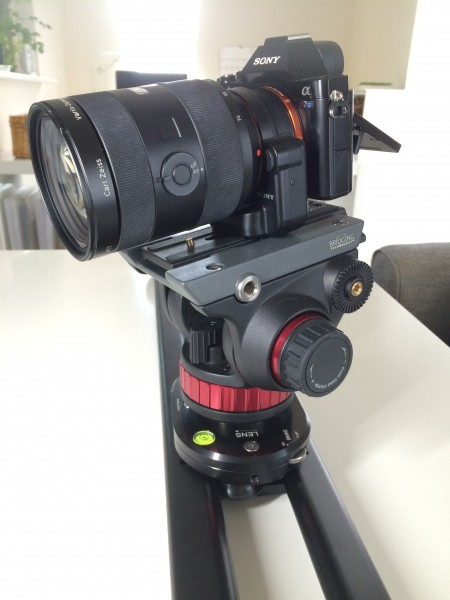 Using the SmartSLIDER with a Manfrotto video head