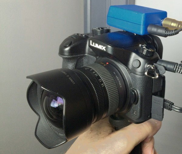 The new SteadXP box shown on a GH4