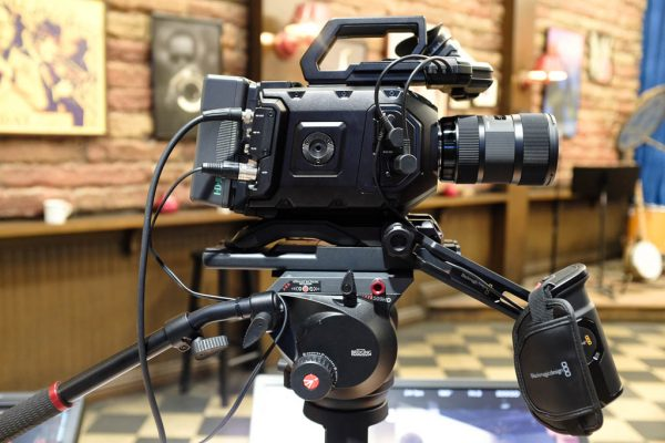Blackmagic URSA mini with repositionable side handle