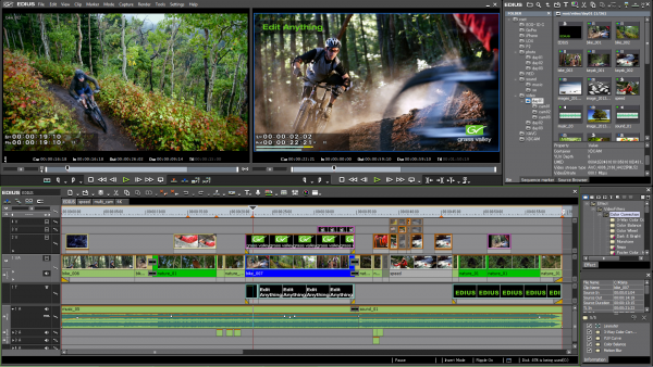 Grass Valley's EDIUS 7 editing package - changes are coming to the interface as well as expanded codec support.