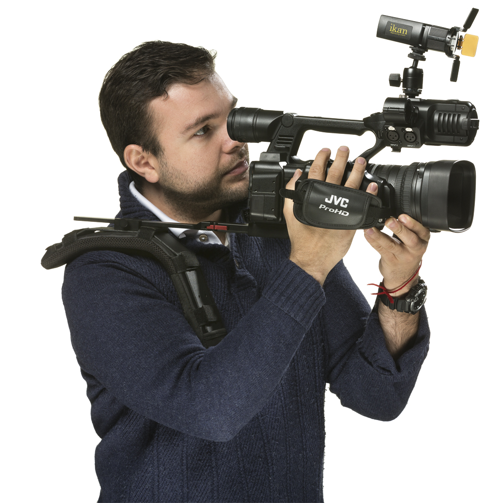 Ikan's iLED-MS mounted on a camera for scale. Beard not included.