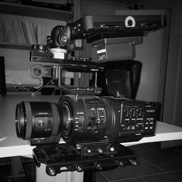 The Fs700 and Odyssey 7Q+ on my Glidecam