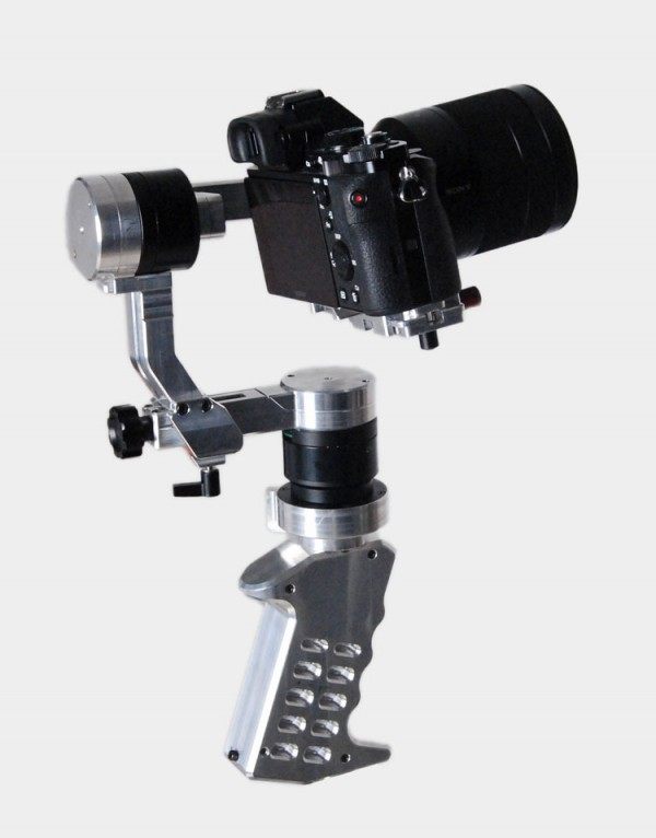 The CAME-Single brushless gimbal. The finished product will be black not silver.