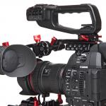 Zacuto Canon C100 mkII Helmet and new Gratical HD EVF firmware update