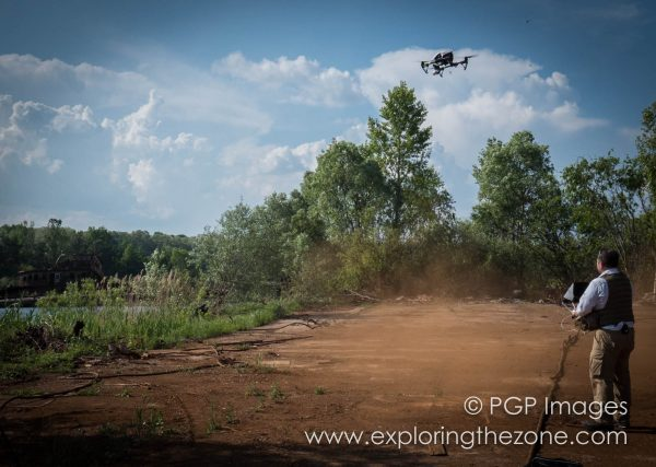 Take-off in the Exclusion Zone