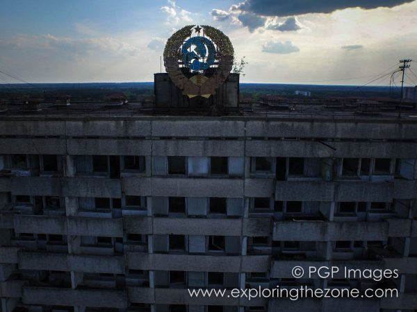 Flying over 16-storey apartment building at 3 Vulytsya Lazareva, Pripyat. Using the Inspire 1 made it possible to capture images like this one that simply would not have been possible otherwise.