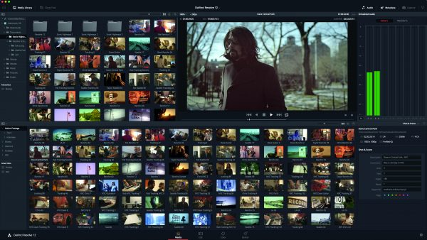 The media page allows easy organisation of your footage