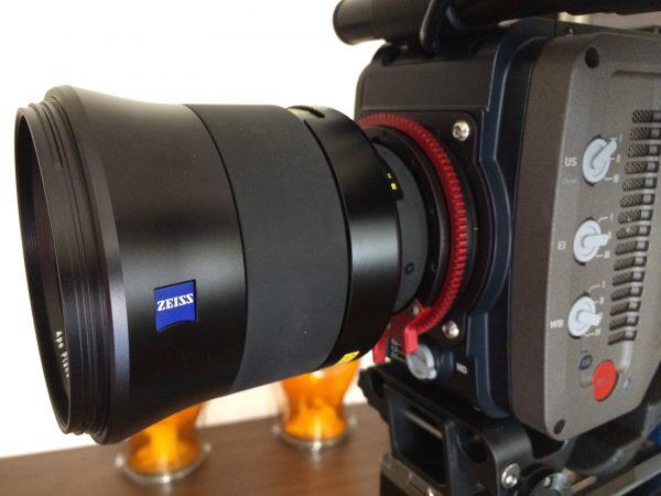 The Zeiss Otus 85mm f1.4 lens on the ProLock Nikon mount