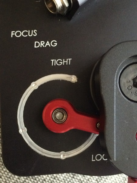 The focus drag controller on the OptiTron 2
