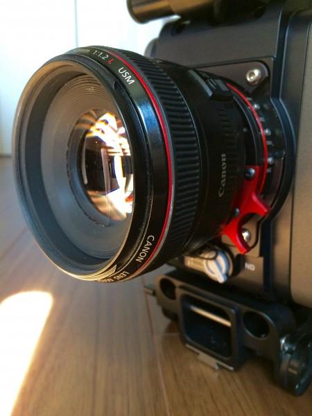 The Canon 50mm f1.2 on the Optitek ProLock-I mount