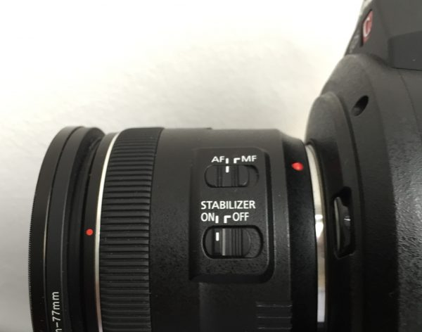 Only autofocus with the image stabiliser was used for the whole shoot