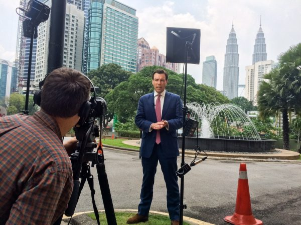 Going live from the GH4 on the MH370 story from Kuala Lumpur