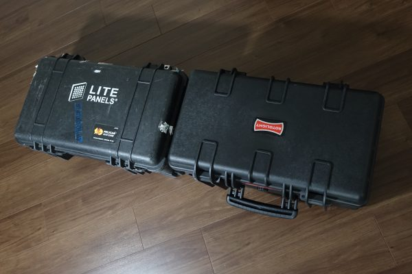 The Rotolight NEO 3 light kit hard case is larger than a Pelican 1510.