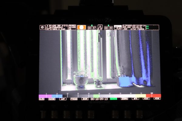False Colour mode on the Odyssey 7Q+ shows that nothing is being over exposed in the  scene, but the highlights are getting clipped. at around 80% IRE