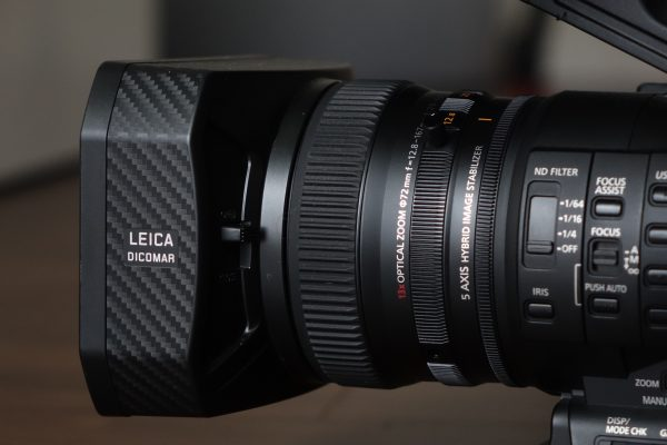 The Leica lens features 3 independent rings for focus, zoom and iris control.
