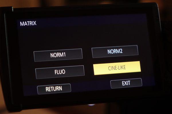 Matrix settings