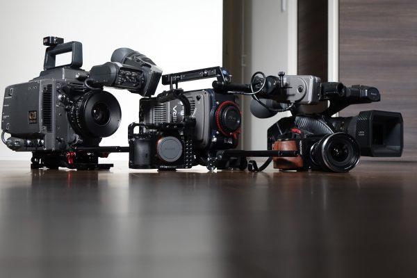 From L-R: Sony F35, Sony a7S, Arri Amira, Blackmagic BMPCC and the Panasonic DVX 200
