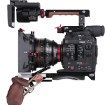 Vocas tophandle, viewfinder extension bracket and cheeseplate for Canon C300 mkII