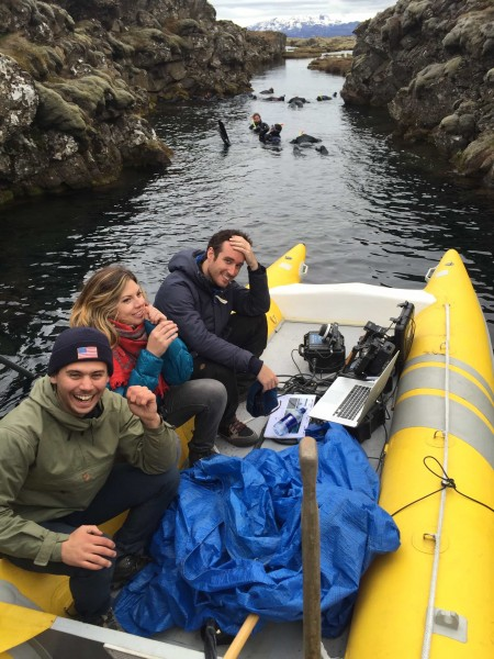 DoP Thomas Hole on location with his team