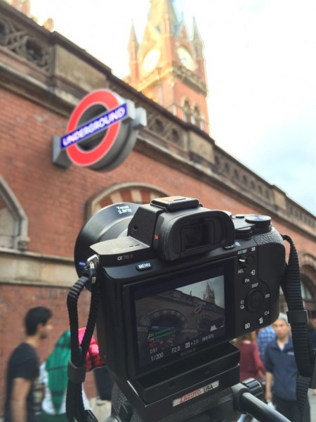 Shooting slow motion with the Sony a7R II outside St Pancras Station