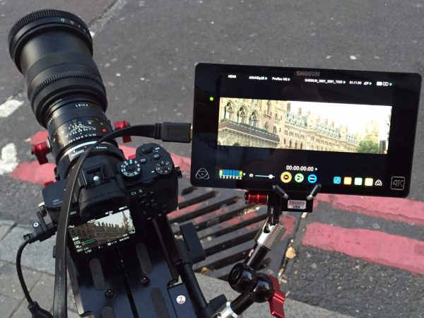 The SLR Magic Anamorphot with Rangefinder on the Sony a7R II and Atomos Shogun
