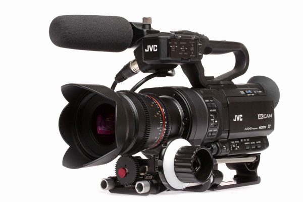 The JVC-GY-LS300, shortly to be updated to firmware version 2.0. Histogram now included!