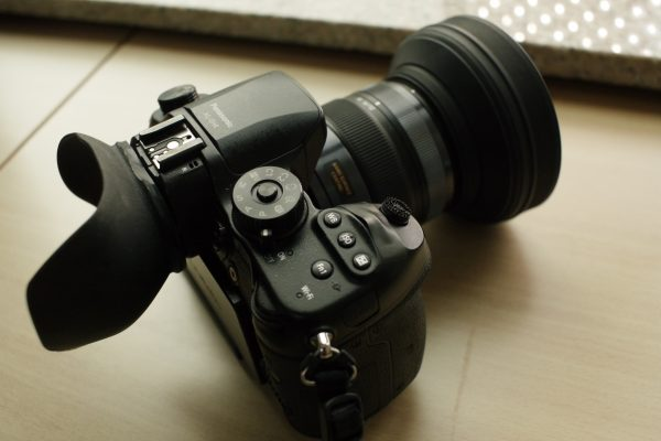 Custom eyecup and shutter release make the GH4 more usable