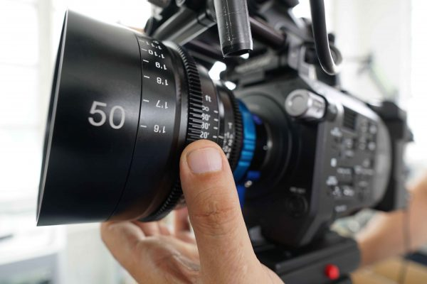 The XEEN FS7 on a Sony FS7 with MTF PL to E-mount adapter