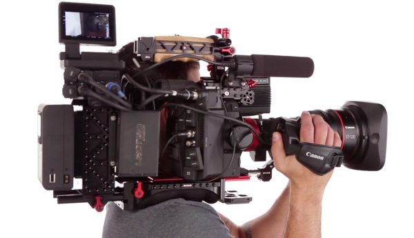 Zacuto are working on an ENG style rig for the C300 mkII and servo style lenses