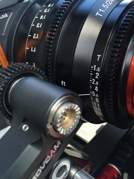 The focus and iris rings have a standard pitch gearing for follow focus