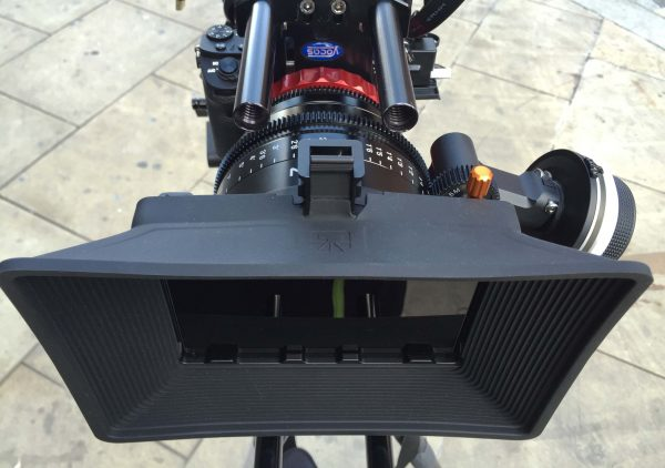 The XEEN lens has a standard 114mm lens front that matteboxes like the Brighttangerine Misfit Atom fits perfectly