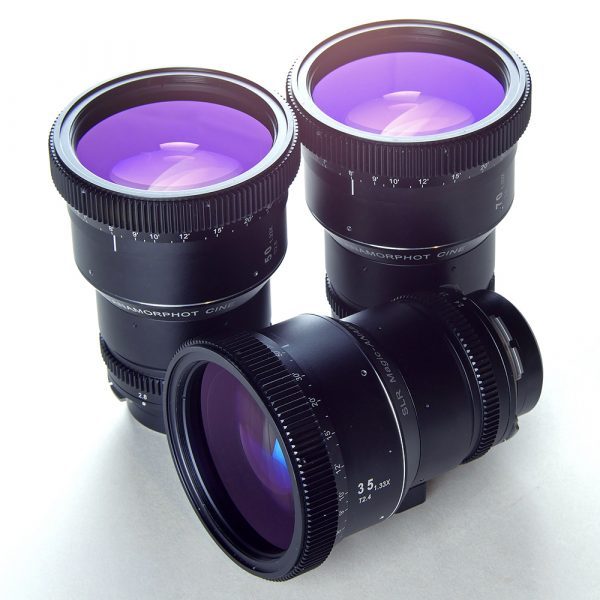 SLR Magic Anamorphot Cine 1.33x Pl-mount lens set: 35mm, 50mm and 70mm lenses