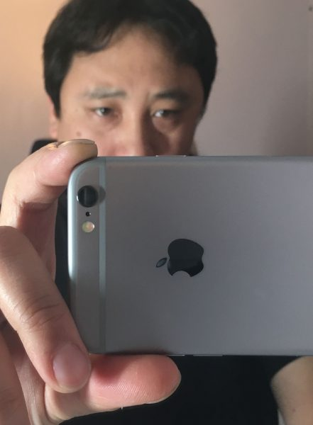 The naked iPhone: Everything was handheld for this test