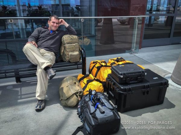 Fast forward to 2015: Waiting with over 254 lbs of kit at Atlanta Airport