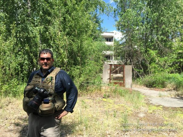 Finishing filming in the most contaminated section of the city of Pripyat