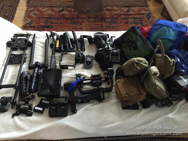A small set of the 'support' gear we took on our fifth expedition
