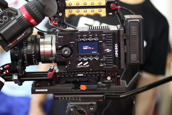 The KineMax 6K with Zacuto Gratical HD EVF and shoulder rig