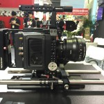 BIRTV 2015: Movcam cage for ARRI Alexa MINI with power distribution battery plate system