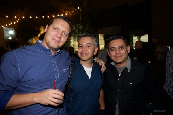 Nicol Verheem and the Garcias of Jag35 at the party