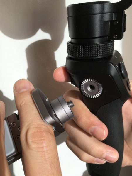 A threaded rosette on the side of the handle allows the mounting of accessories