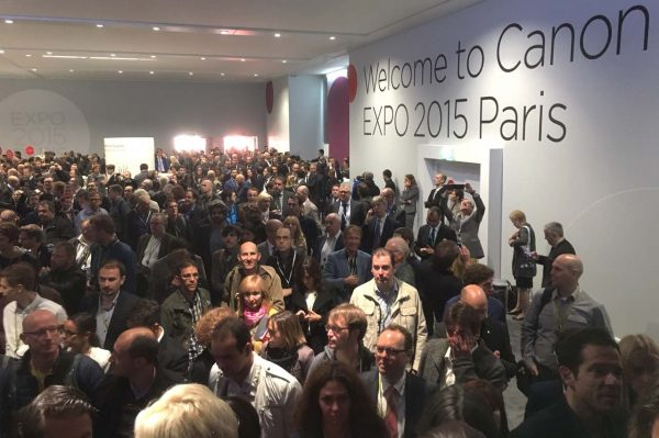 The first day of Canon Expo in Paris was a packed event