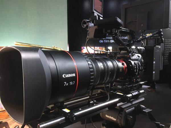 The 8K S35 servo zoom lens prototype on the 8K camera