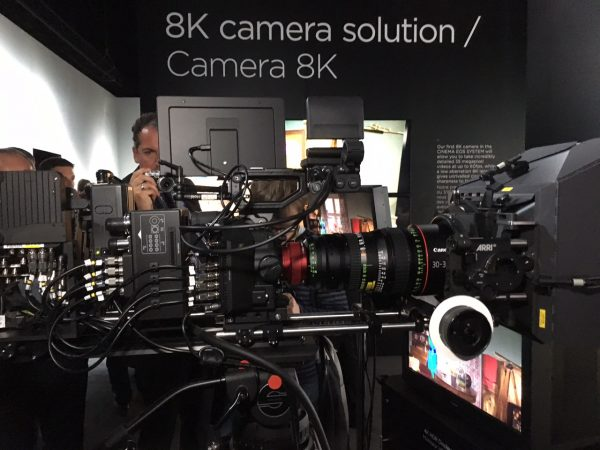 Canon Expo 2015: 8K Cinema EOS technology demo camera recording to