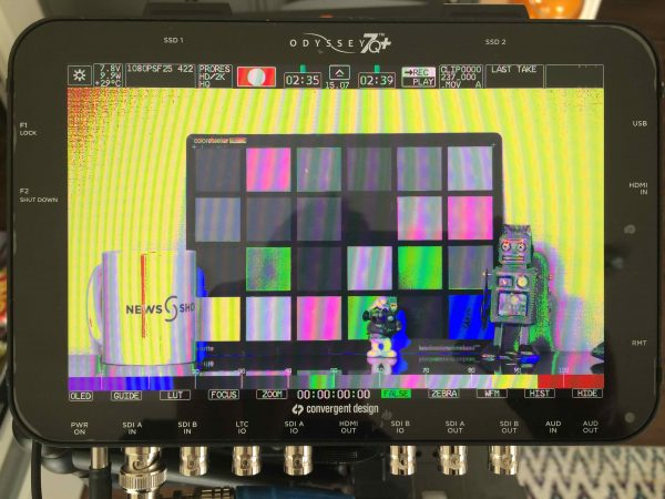 A Convergent Design Odyssey 7Q+ was used to not only record the tests but also to help keep the exposure consistent.