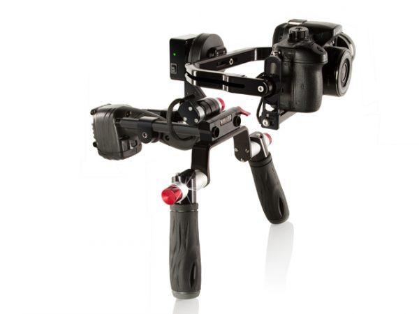 The Shape ISEEPLUS brushless gimbal with shoulder rig option