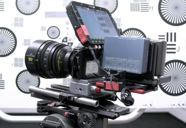 The Leica SL with Zeiss 100mm T1.3 Master Prime, Odyssey 7Q recorder and Cinoflex rig